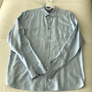 Ted Baker Men's Blue Linen Button Down 6